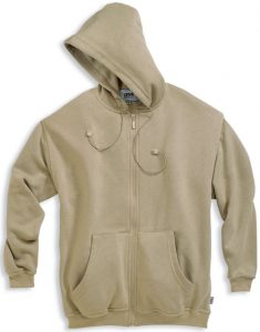 Hooded Sweatjacket with Rib-6508