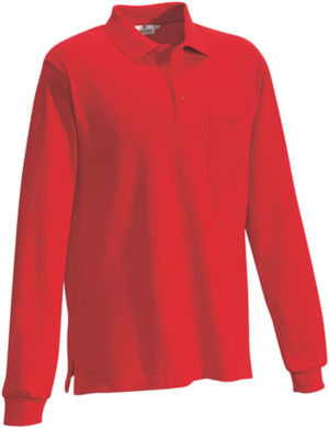 HAKRO Longslevve-Pocket Polo Top-809.