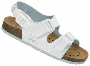Abeba Damen- und Herren- Sandalette-8190R Weiß